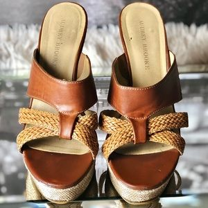 Audrey Brooke Ebony Wedge Heel Summer Sandals